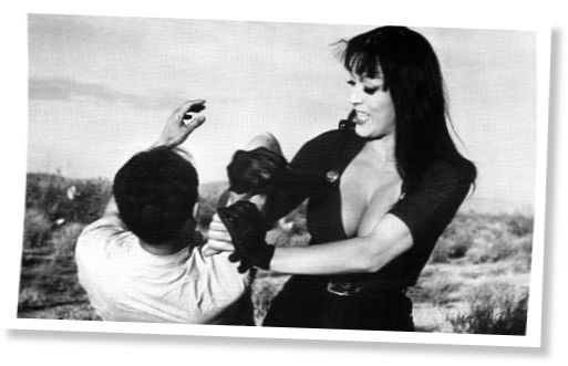 Still from Russ Meyer's Faster Pussycat Kill Kill
