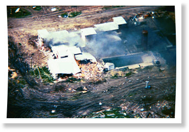 Branch Davidians, Waco Texas, burning siege
