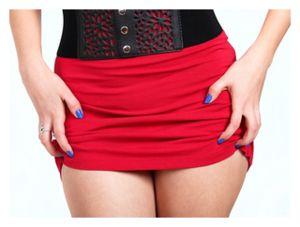 Woman in Short Skirt