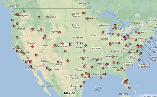 Map of Domestic Drone Authorizations