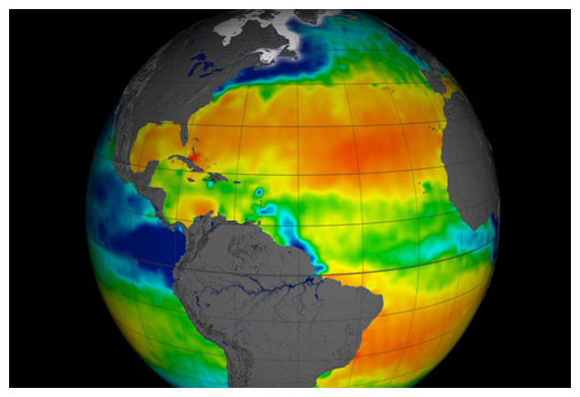 Salinity levels in Atlantic Ocean are off the chart ...