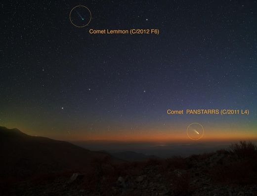 Comets Pan-STARRS Lemmon