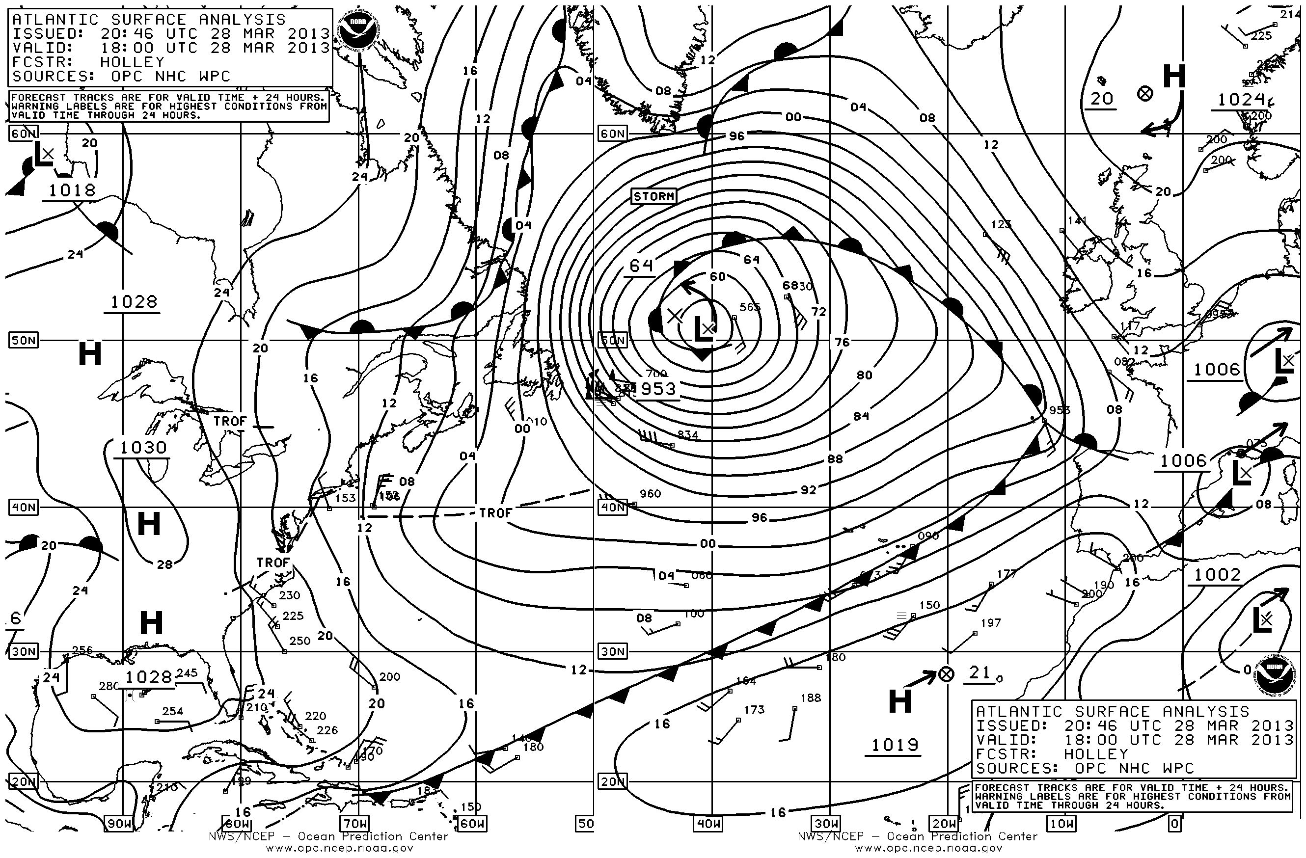 Atlantic Ocean Weather Map Incredible North Atlantic storm spans Atlantic Ocean, coast to