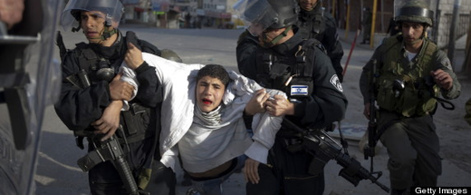 Palestinian child arrest