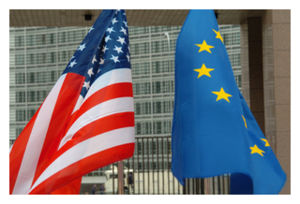 EU & US Flags