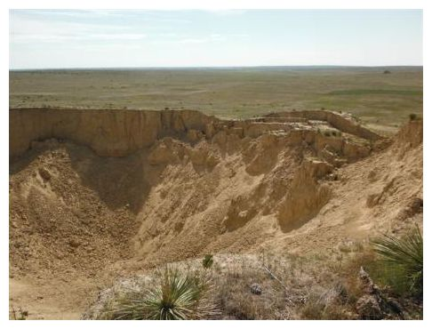 Large sinkhole discovered in Western Kansas  2_aug_wallace_co_sinkhole3