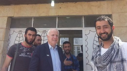 John McCain with kidnapper
