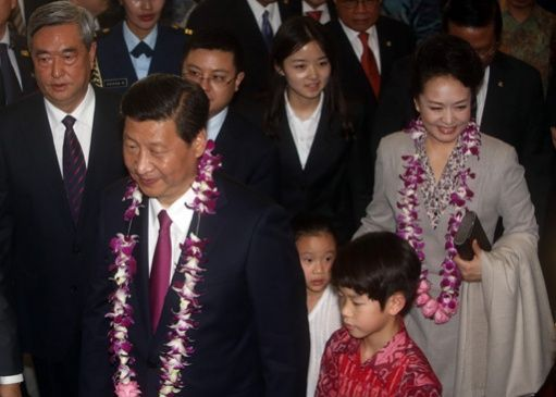 Chinese President Xi Jinping  and First Lady Peng Liyuan