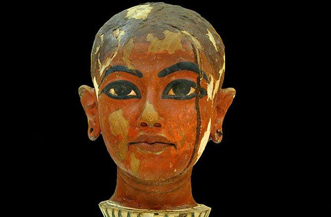 Pharaoh Face Painting