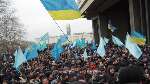 Pro-Ukrainian rally in Semfiropol