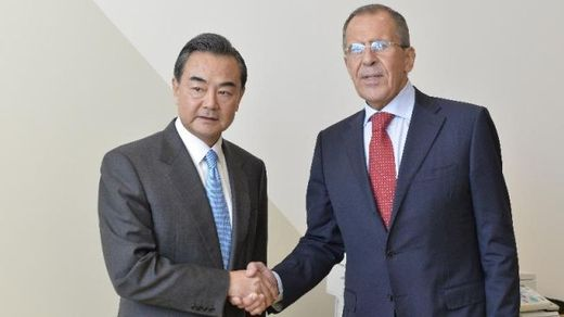 China and Russia's foreign ministers