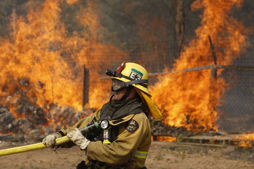Cocos wildfire, CA