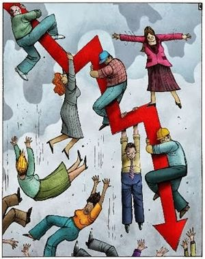 people falling cartoon