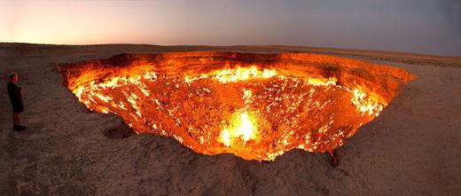 turkmenistan gas crater