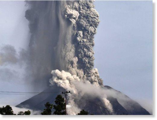 Indonesia's Mount Sinabung erupts, causing massive evacuation  Ff