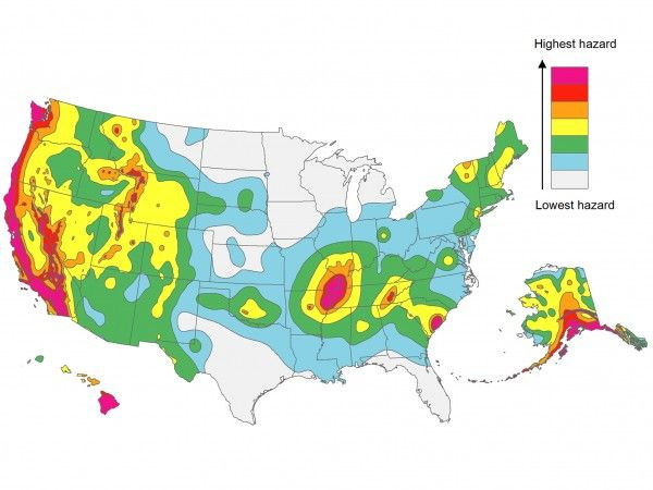 New Map Points Up Future Hot Spots For US Earthquakes Earth - Future map of us