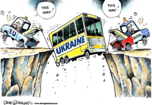 Russia EU Ukraine cartoon