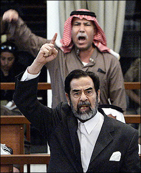 Saddam at trial
