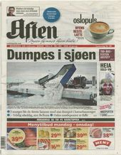 Norway Newspaper dumping snow at sea