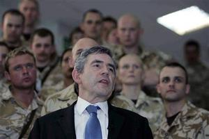 Prime Minister Gordon Brown w/troops