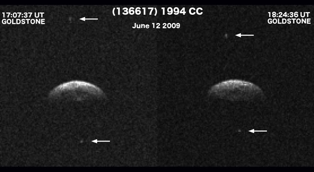 Triple asteroid system passes by Earth