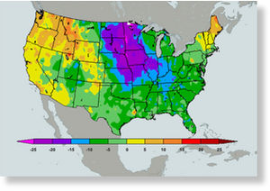 Icy Temperatures in the US - Jan 4, 2010