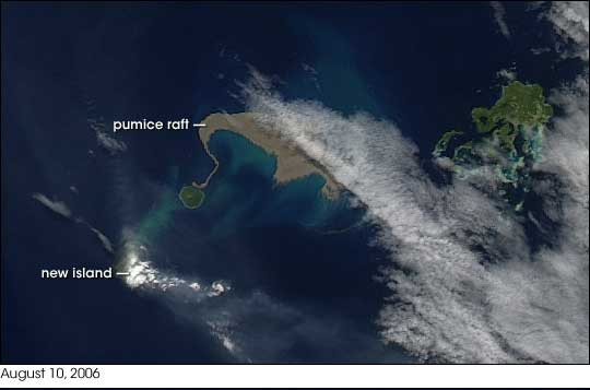 Sign of Cosmic Climate Change: New Island Forms in South Pacific