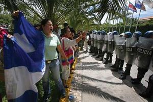 Supporters of ousted President Manuel Zelaya