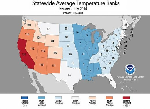 temp map USA