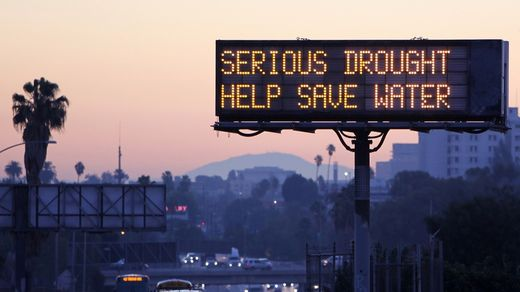 drought sign LA