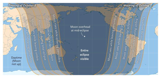 Lunar Eclipse Viewing Map