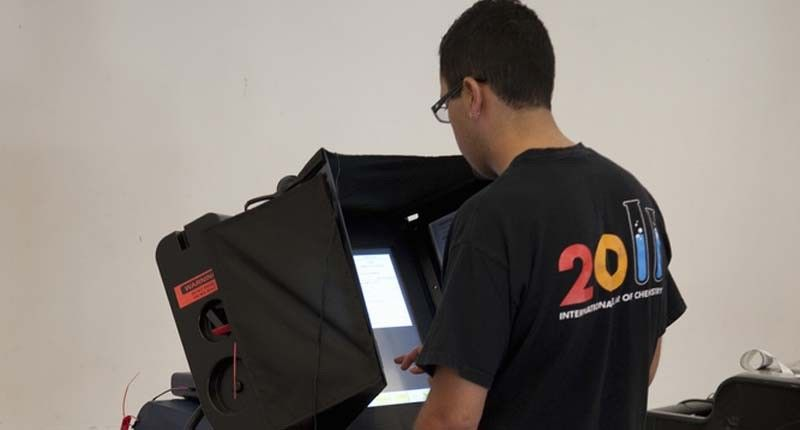voting machine switching votes