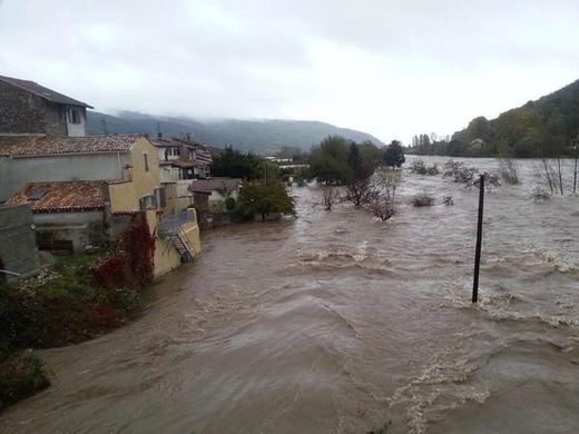 Floods in France and Italy following 6 inches (163mm) of rain in 24 hours