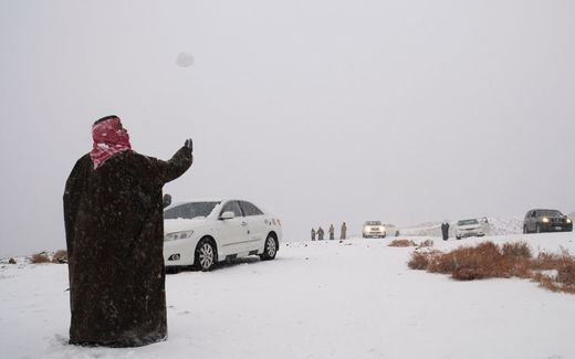 Snow in Saudi-Arabia