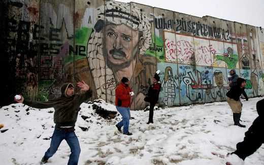 Snow in Palestine
