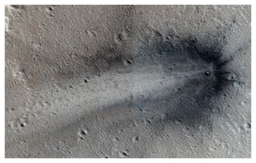 Impact crater on Mars