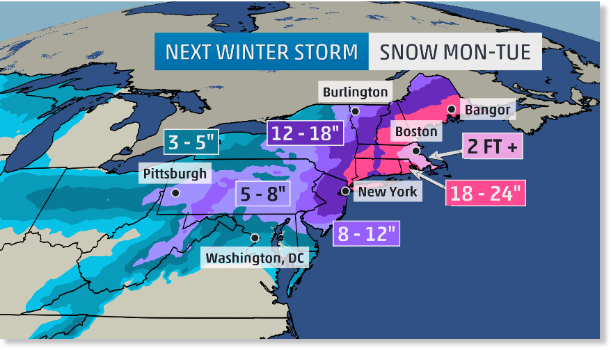 U S East Coast threatened by 39 historic 39 snowstorm with possible sign