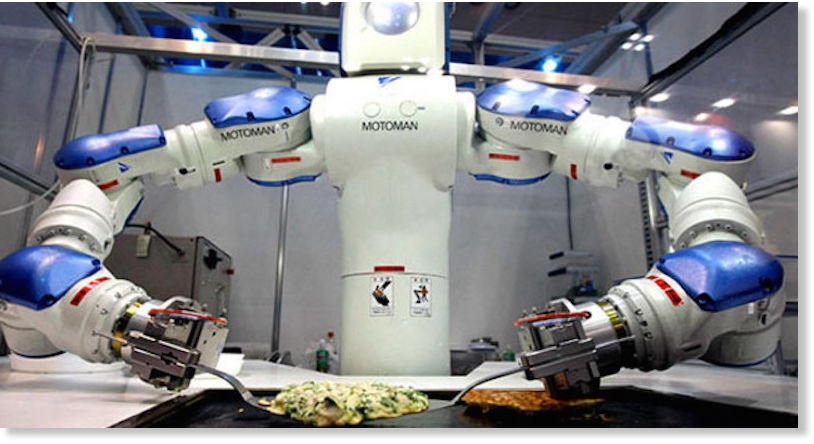 robots are replacing chefs at restaurants in asia science technology. Black Bedroom Furniture Sets. Home Design Ideas