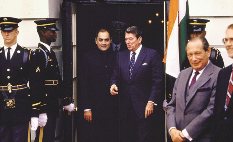 Image result for rajiv gandhi and ronald reagan