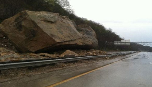 Ohio highway boulder 2