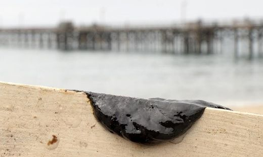 oil slick off California coast