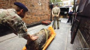 unexploded WW2 bomb london