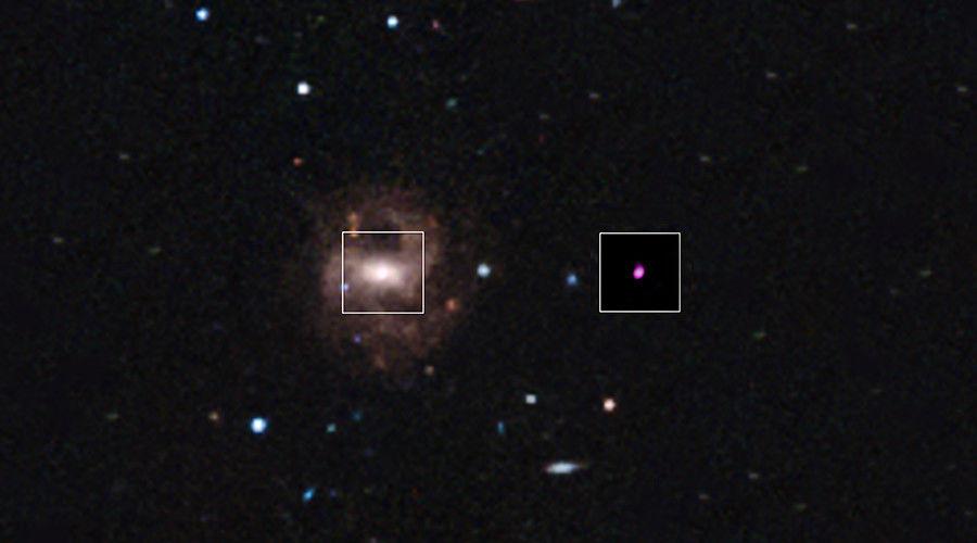 nasa gov nasa optical image of the rgg118 galaxy center and the x ray ...