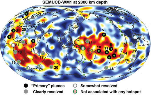 CT scan of Earth links deep mantle plumes with volcanic hotspots