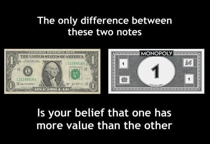 Image result for money is an illusion of the mind
