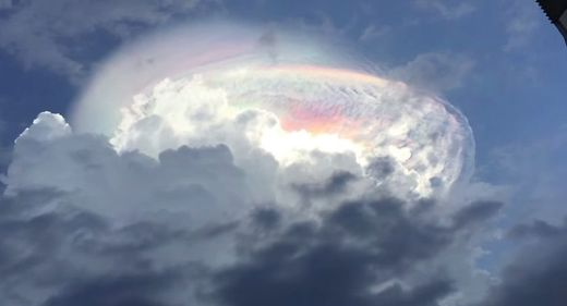 multicolored clouds rainbow