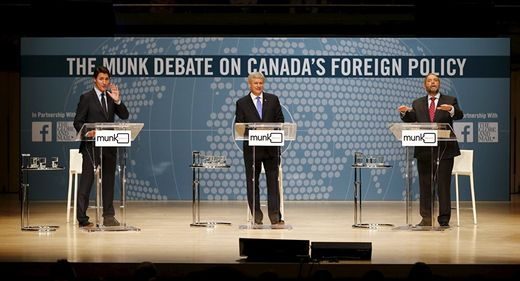 Canada political party Munk debate