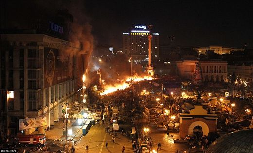 Zamach stanu w Kijowie: USA wzniecają pożar pod samymi drzwiami Rosji