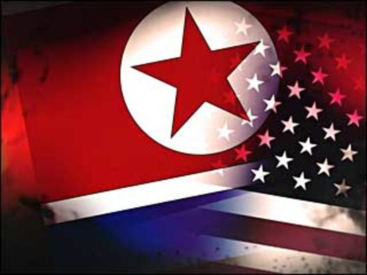 US North Korea flag