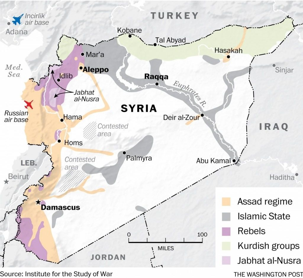 US Sends Special Forces To Syria To Create A Safe Zone For ISIS - Map of us safe zones